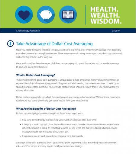 Fourth Quarter 2019   Health Wealth and Wisdom