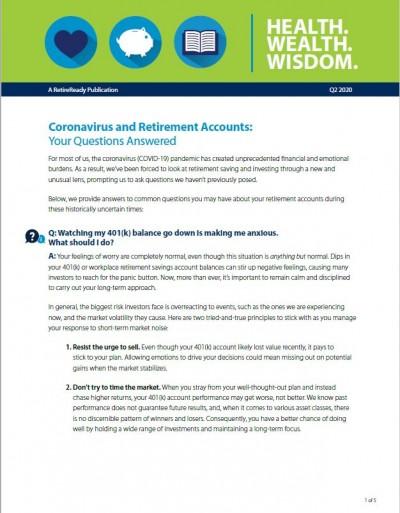 Second Quarter 2020   Health Wealth Wisdom