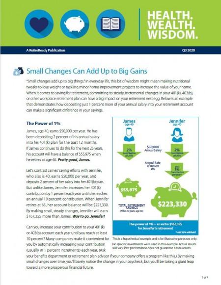 Third Quarter 2020   Health Wealth Wisdom
