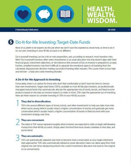Fourth Quarter 2020   Health Wealth Wisdom